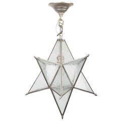 A Star-Shaped Ceiling Fixture