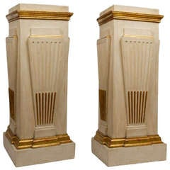Pair of Swedish Neoclassic Design Square Pedestals