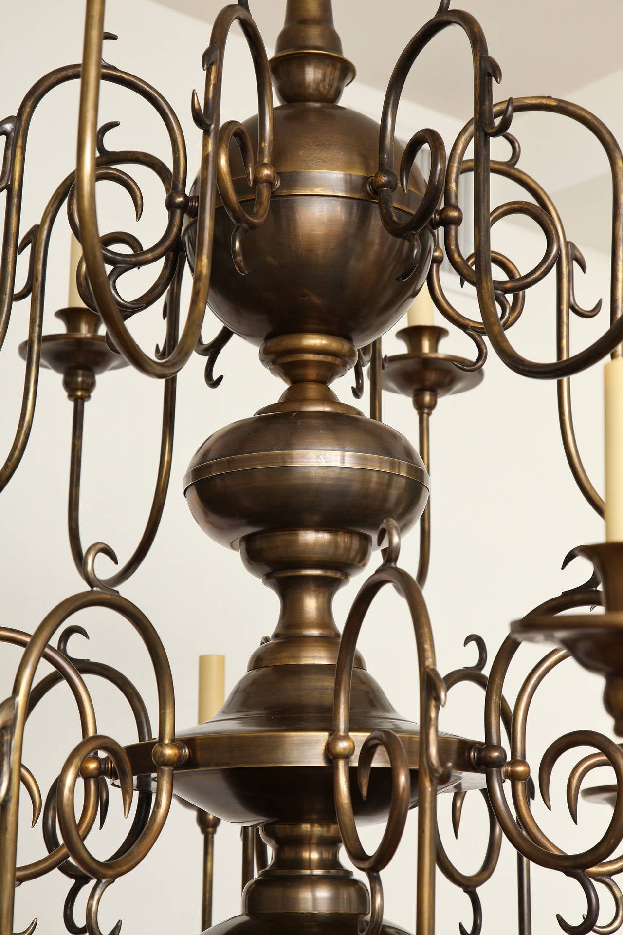 Philipse Two-Tier Sixteen-Light Chandelier In Excellent Condition For Sale In New York, NY