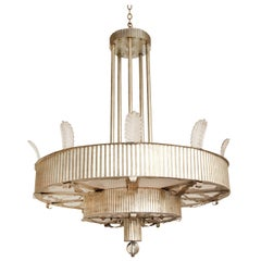 An Art Deco Inspired Two-Tiered Eltham Pendant Fixture by David Duncan