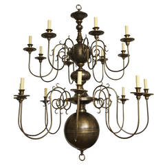 Philipse Two-Tier Sixteen-Light Chandelier