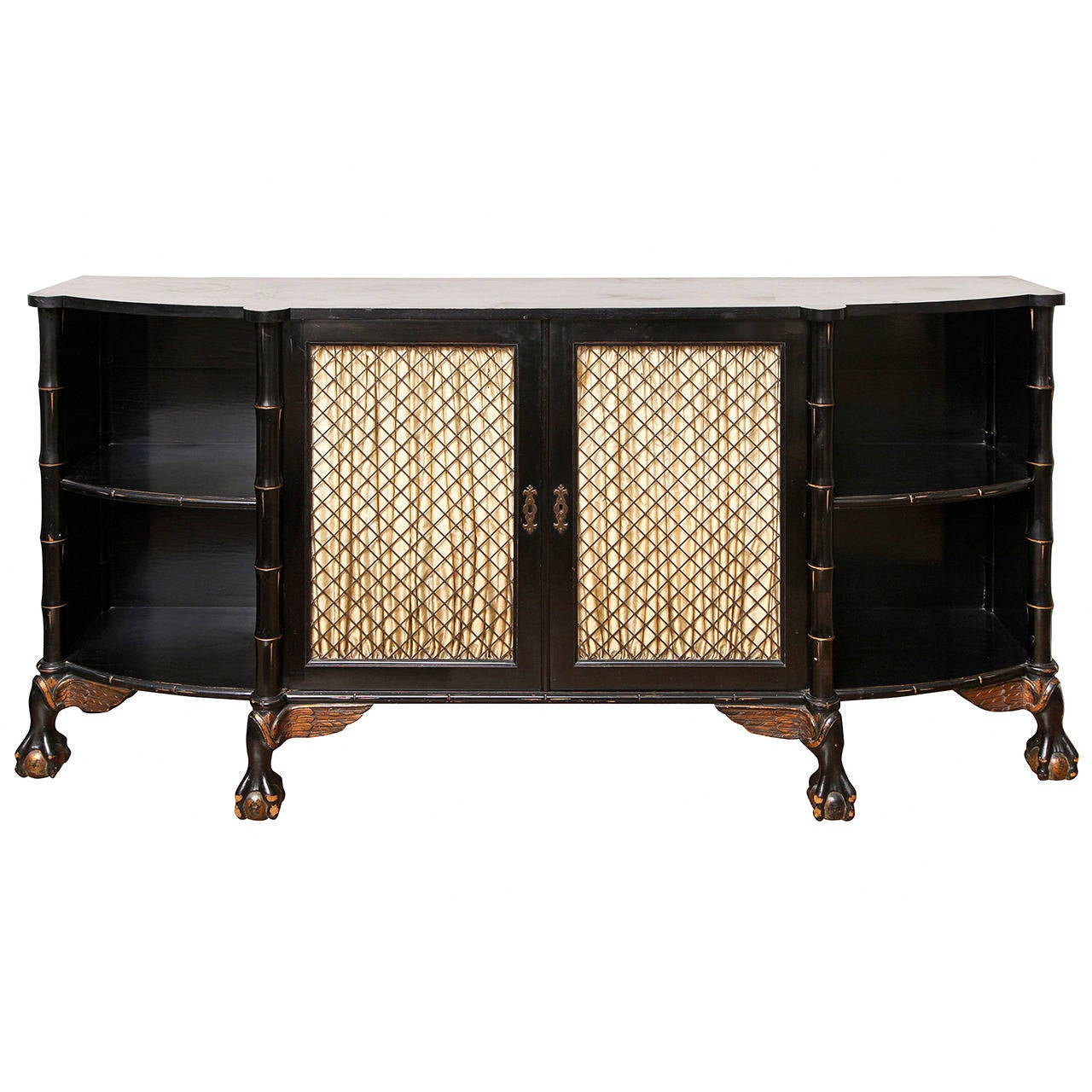 English Regency Style Bow Front Sideboard At 1stdibs