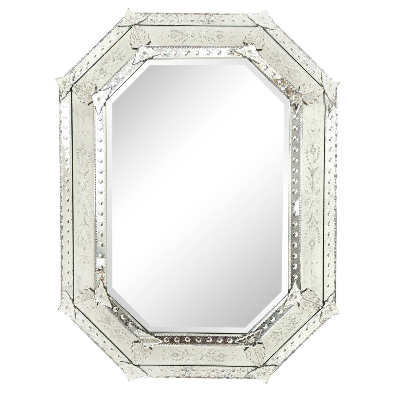 Oversized octagonal venetian mirror at 1stdibs for Oversized mirror
