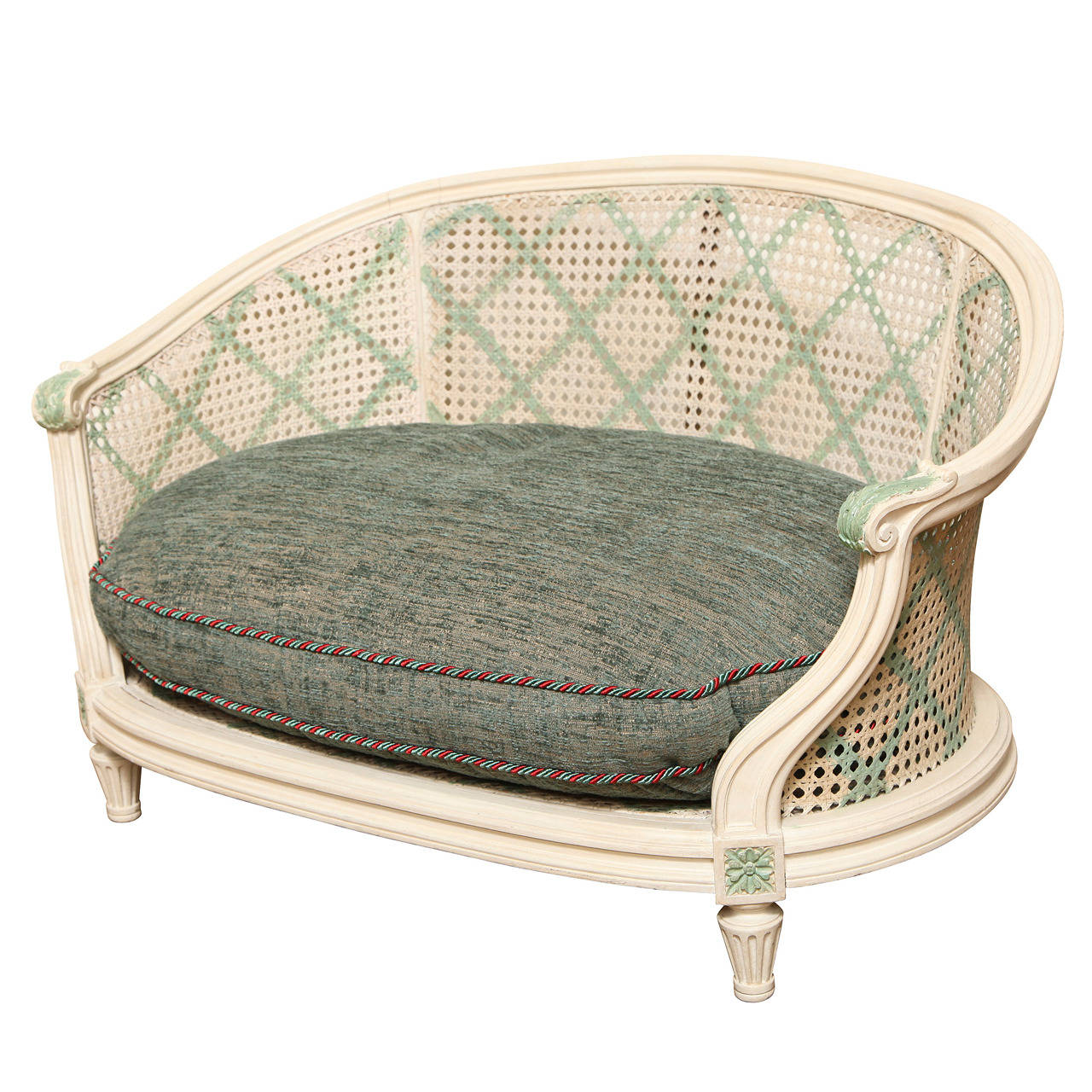 Caned French Louis Xvi Style Dog Bed At 1stdibs