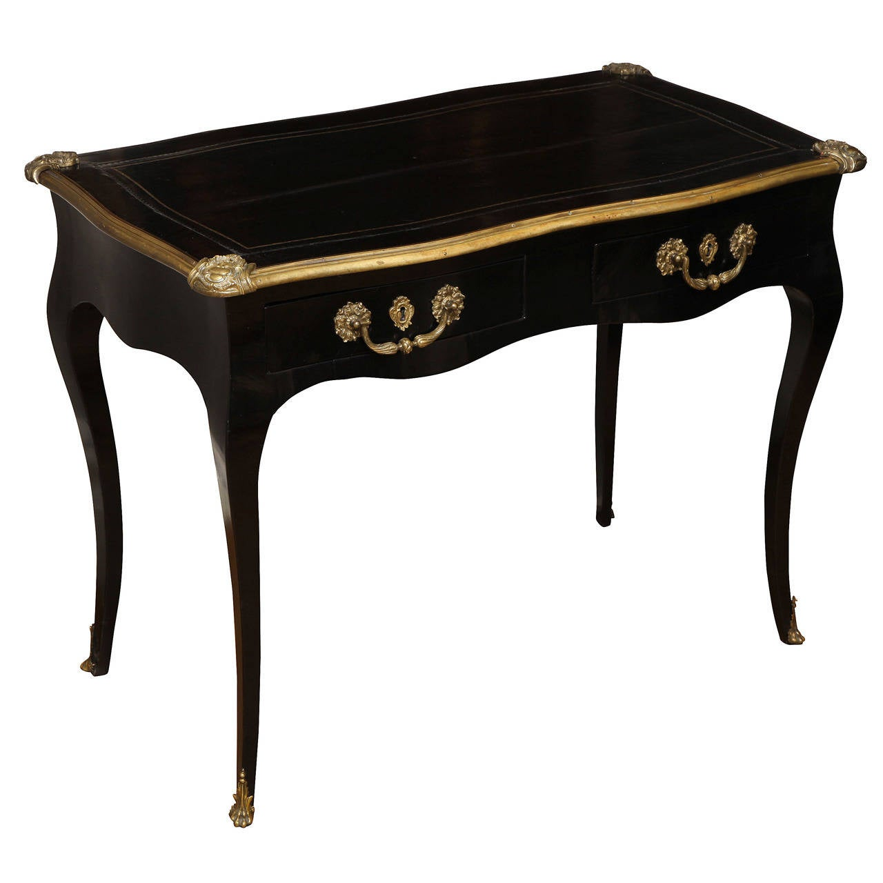 Ebonized louis xv style side table at 1stdibs - Table style louis xv ...