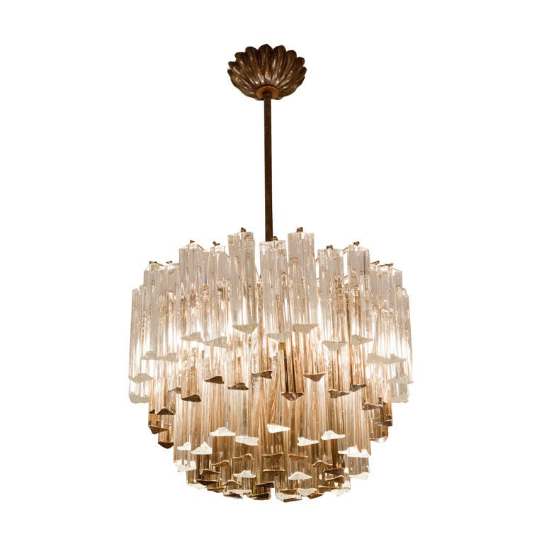 A Contemporary Design 4 Tiered Chandelier at 1stdibs