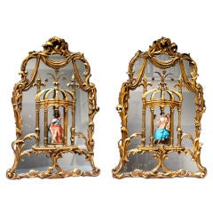 A Pair of Italian Neo Classical Design Mirrors