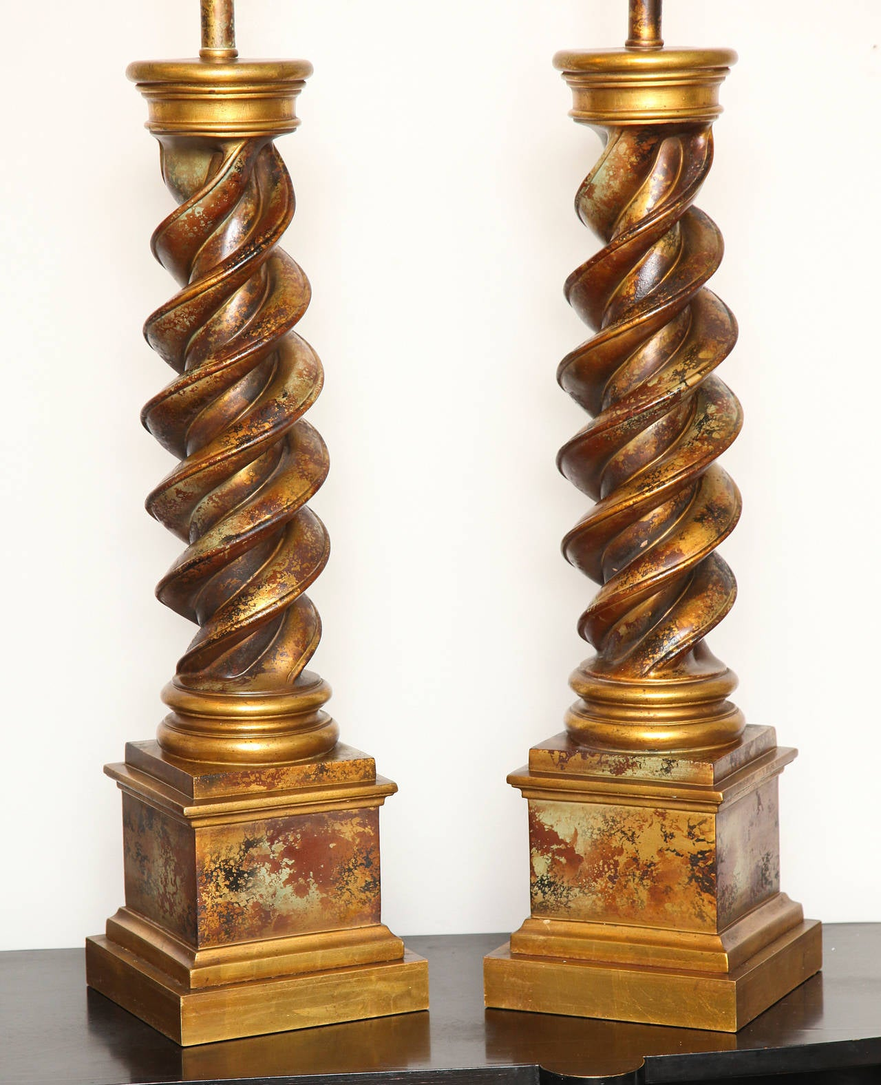 Pair of 1960s James Mont Style Lamps 5