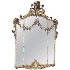 An American Iron and Tole Mirror
