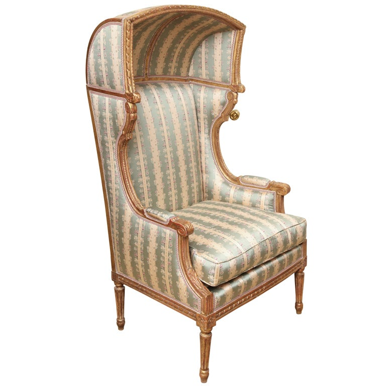 A French Louis Xvi Style Porter S Chair