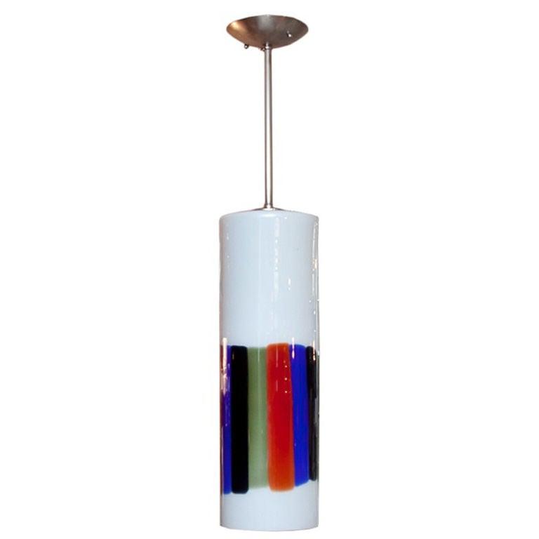 Massimo Vignelli for Venini Cylindrical Pendant Light