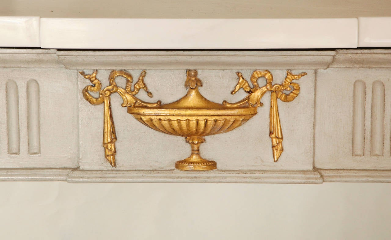 French Louis XVI Style Marble-Top Console Table For Sale 1