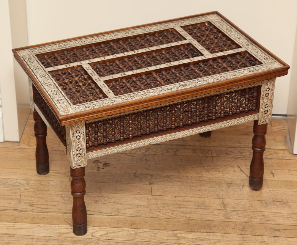 A Rectangular Syrian Low Table With Open Fretwork Top And Sides At 1stdibs