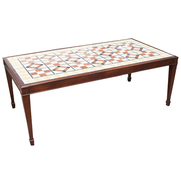 Coffee Table Square Legs: A Rectangular American Coffee Table With Square And