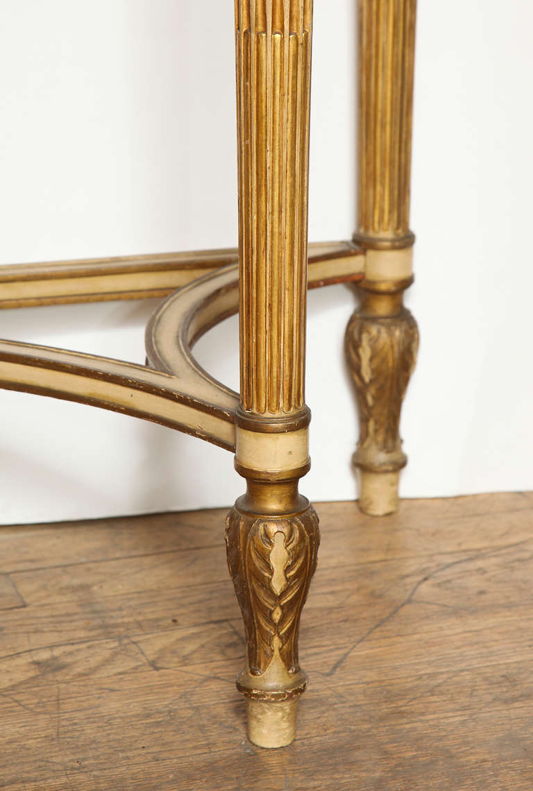 French, Louis XVI Style Demilune Console 5