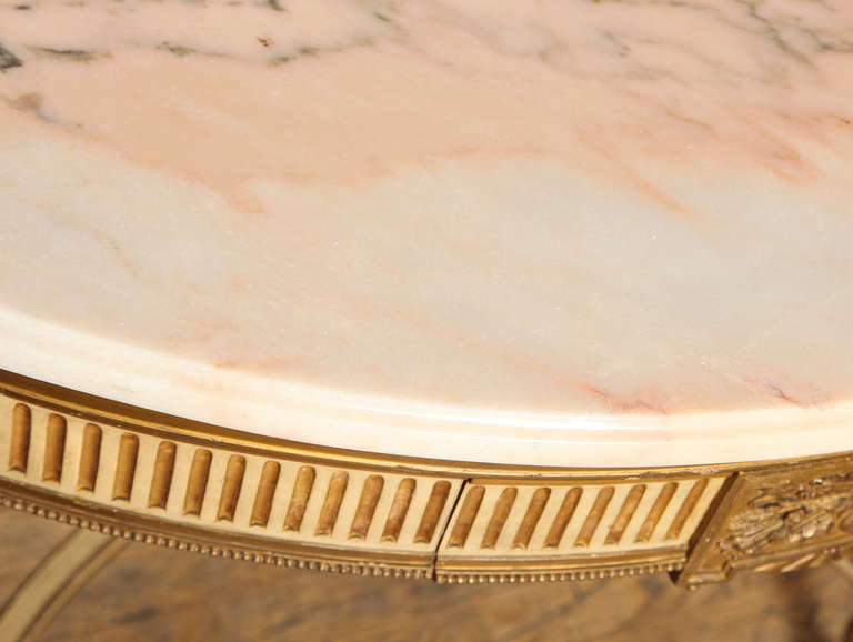French, Louis XVI Style Demilune Console 7