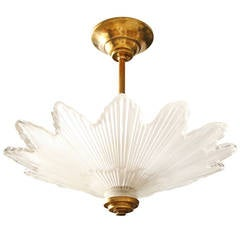 Caldwell Scalloped Edged Glass Sunburst Ceiling Light