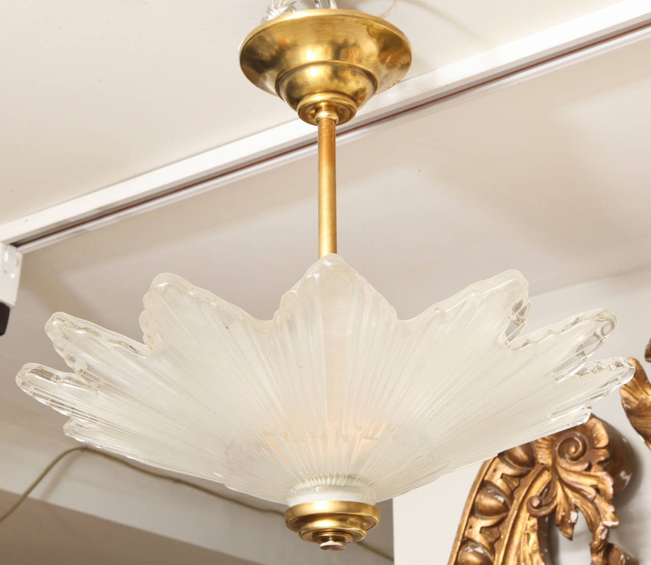 Caldwell Scalloped Edged Glass Sunburst Ceiling Light at ...