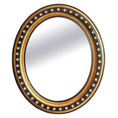 An Oval Irish Georgian Style Mirror