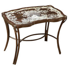 A  LaVerne Chinoserie Style Acid Etched Side Table
