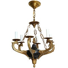 A Six Light French Empire-style Chandelier