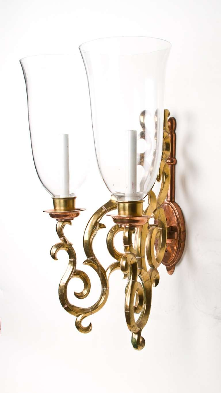 How Are Wall Sconces Installed : A Pair Of Two Light Wall Sconces, Previously Installed at Tavern on the Green at 1stdibs