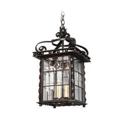 A Square Swedish Iron Lantern
