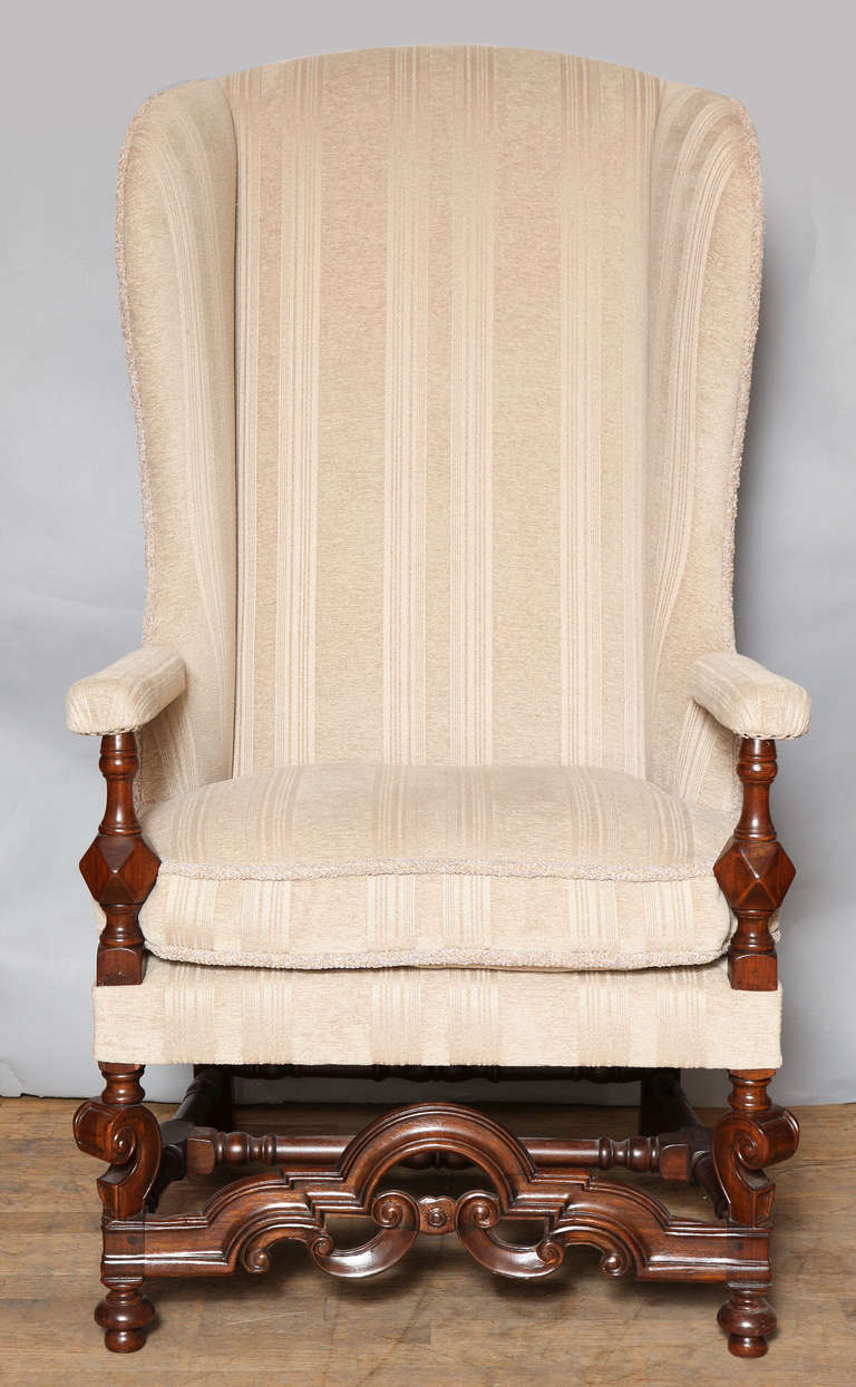 High Back American Wing Chair For Sale at 1stdibs