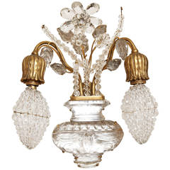 Two-Light Bagues Style Vanity Wall Light