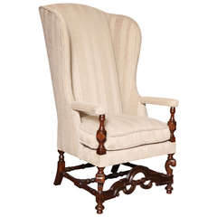 high back american wing chair