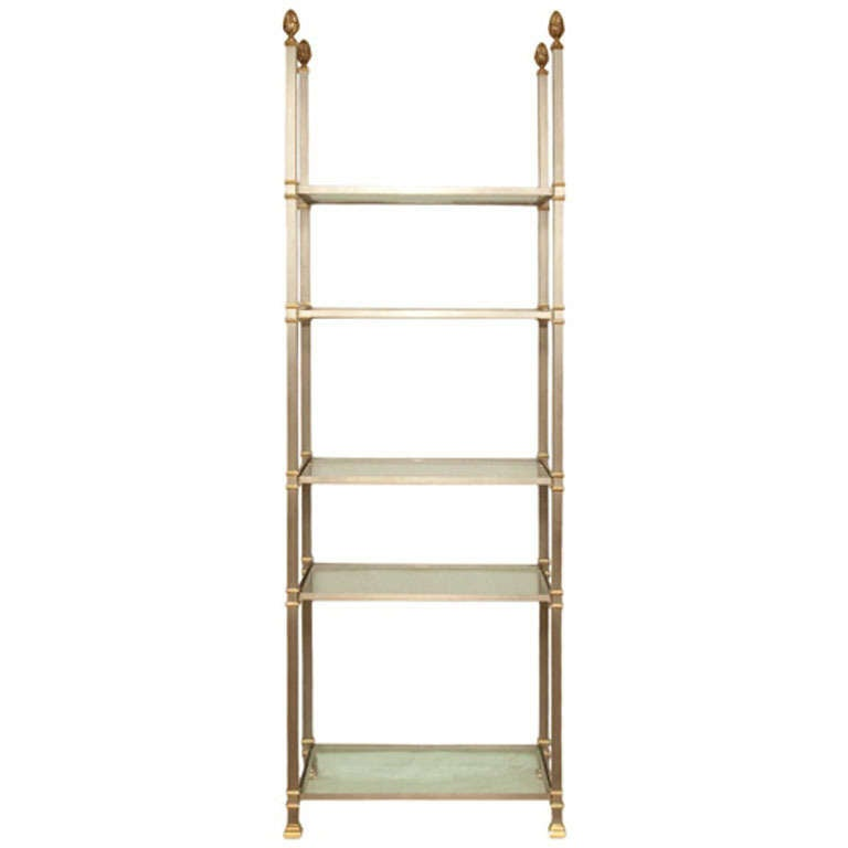 stand with shelves a 5 tier steel etagere at 1stdibs 2476
