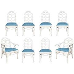 Set of Eight Frances Elkins-Designed Loop Chairs