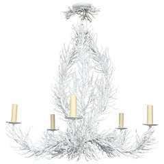 """Enameled metal """"coral"""" form chandelier"""