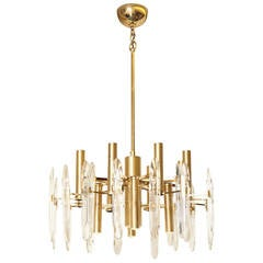 An American 12-Light Contemporary Design Chandelier