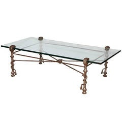 Patinated Forged Iron Coffee Table
