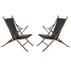 Pair of Jansen Style Campaign Chairs