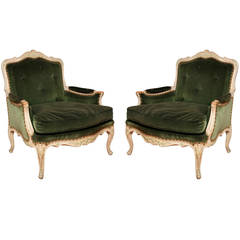A Pair of French Louis XV Style Bergeres