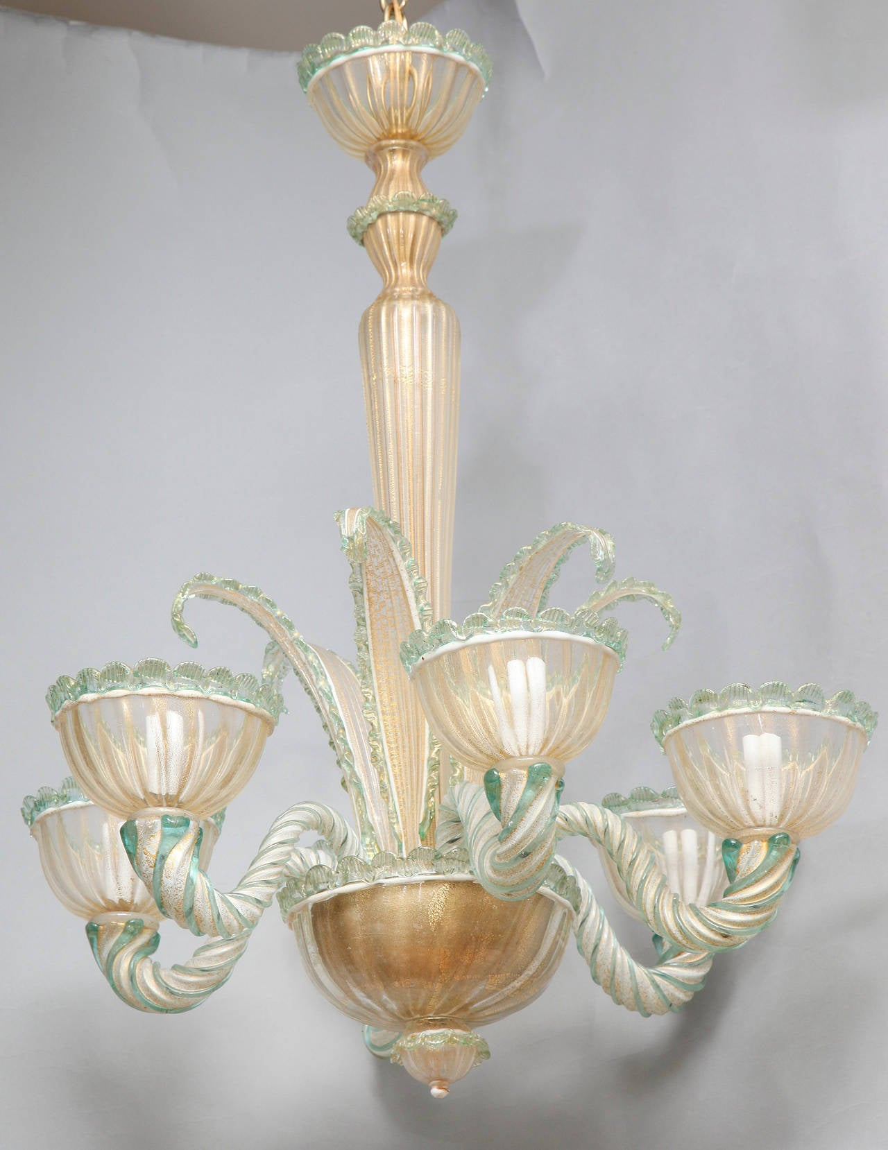 six light venetian murano glass chandelier at 1stdibs