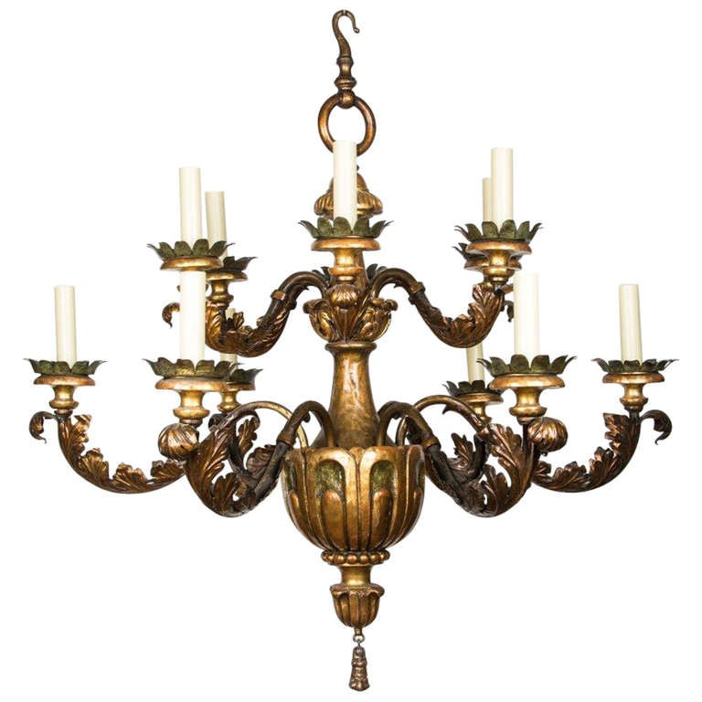 A 12 Light Two Tiered Caldwell Chandelier At 1stdibs