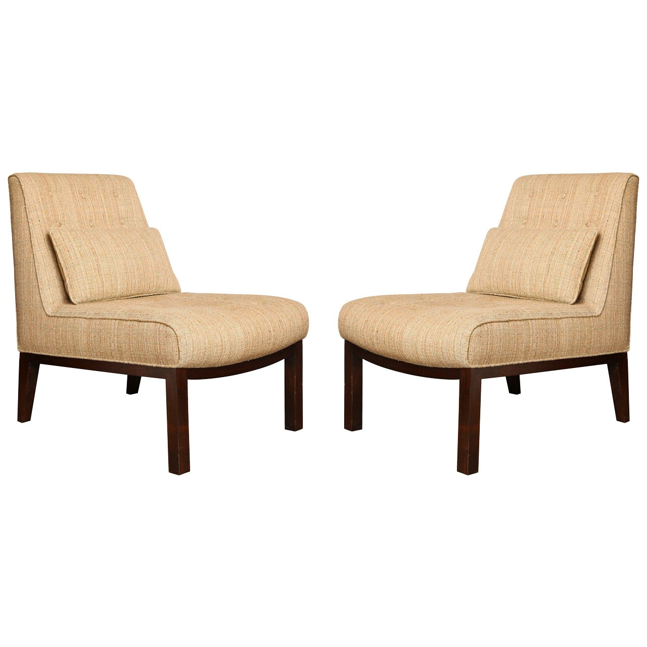 A Pair of Mid-Century Modern Edward Wormley for Dunbar Slipper Chairs