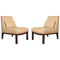 A Pair of Mid-Century Modern Edward Wormley for Dunbar Slipper Chairs