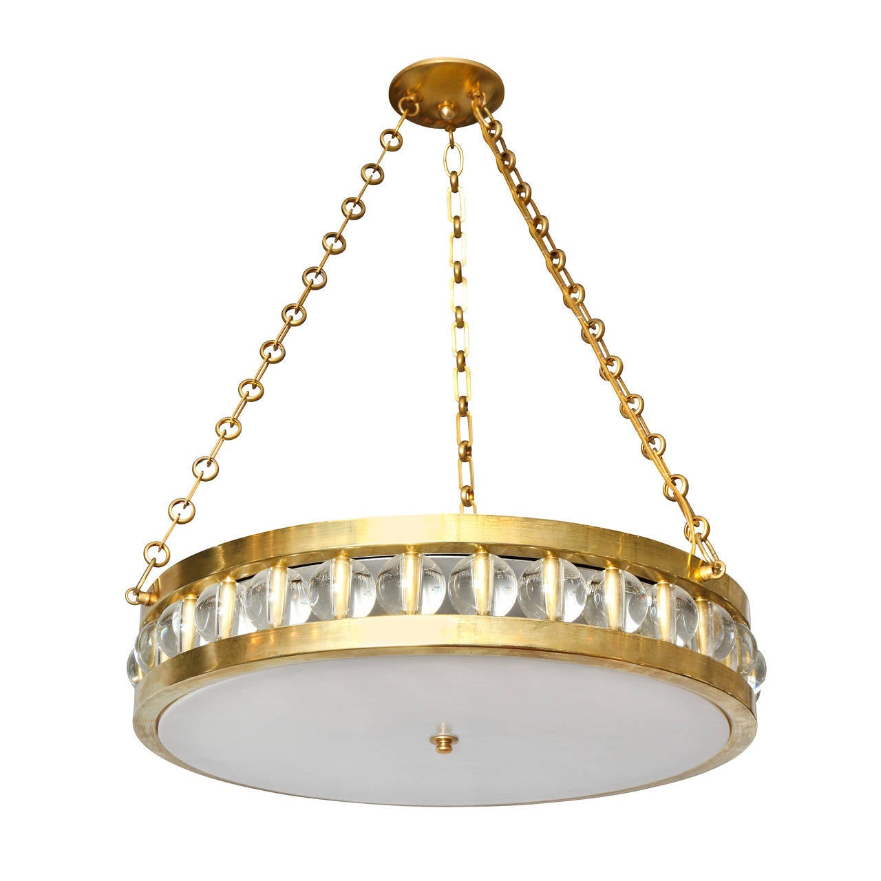 "A 24"" Tambour Pendant Fixture with Chain"