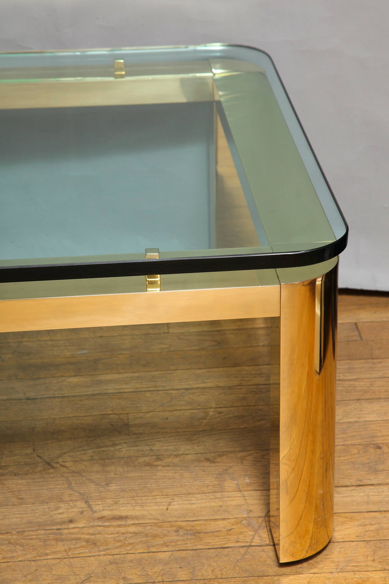 A Pace Collection Floating Glass Top Coffee Table For Sale at 1stdibs