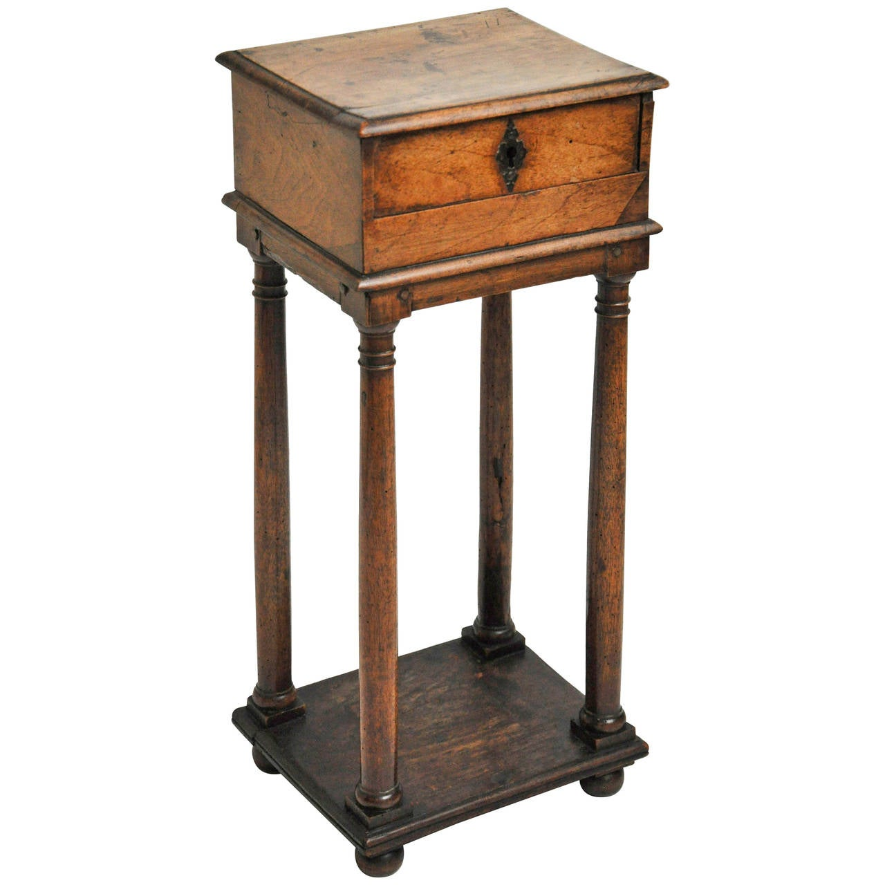 French Walnut Louis XIII Small Scale Single Drawer Side