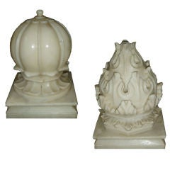 Large White Marble Carpet Weights