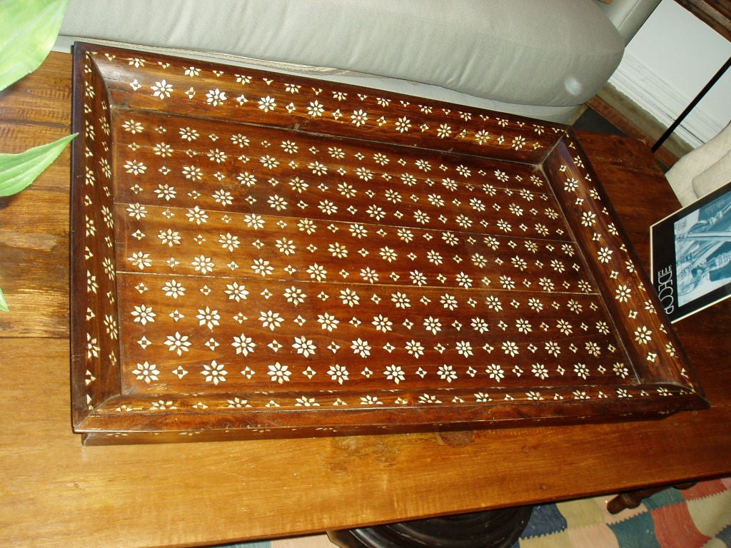 Wood Mother-of-Pearl Inlaid Trays