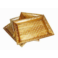 Mother of Pearl Inlaid Trays