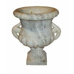 White Marble Garden Urn