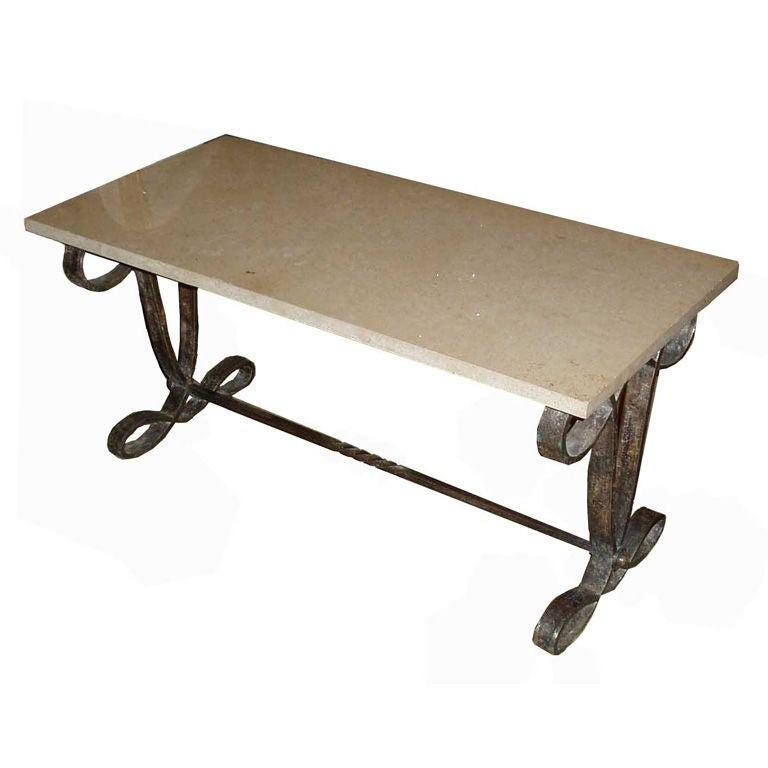 Table basse fer forge at 1stdibs for Table bar fer forge