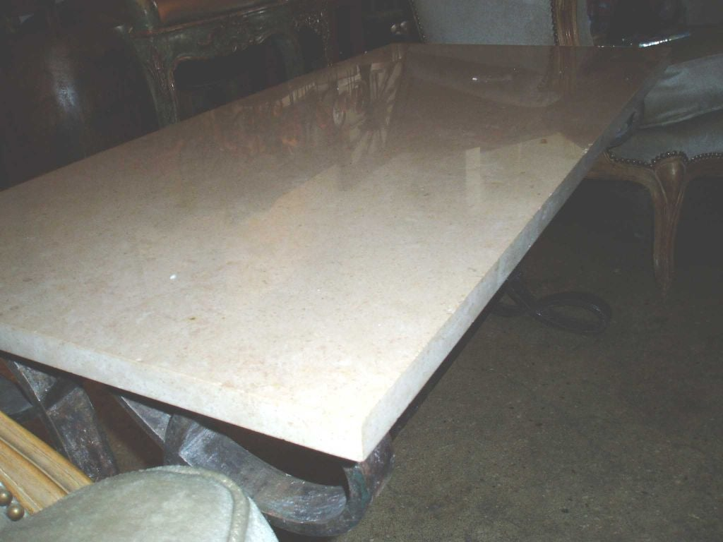 Table basse fer forge at 1stdibs - Table chaise fer forge ...